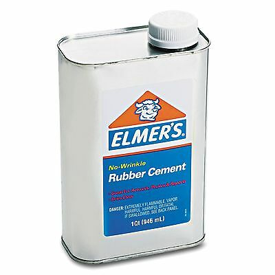 ELMER'S Rubber Cement Repositionable 1 Qt - Brand New Item EPI233