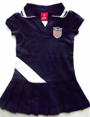 INFANT / TODDLER GIRLS SIZE 12M 18M 24M 2T OR 4T TEAM APPAREL USA POLO DRESS NWT