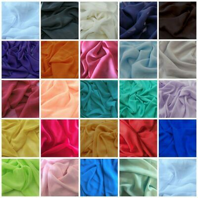 Chiffon Dress Fabric Polyester Material Wedding Craft Bridal Draping 150cm Wide