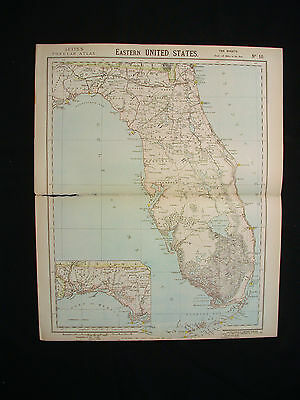 1883 LETTS - United States America north eastern sheet Florida, Monroe Taylor