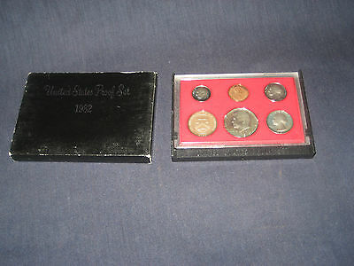 1982 S United States Mint Proof Coin Set uncirculated ungraded