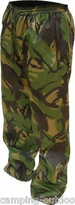 Heavy Duty Rip-Stop Breathable WATERPROOF TROUSERS DPM Camo Mens Overtrousers