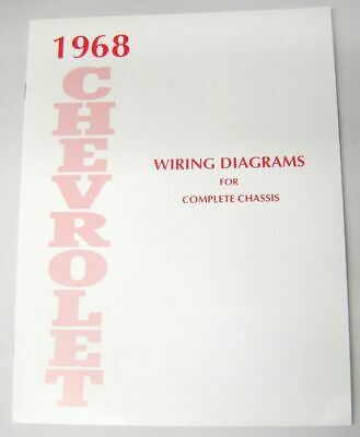 68 1968 chevy impala electrical wiring diagram manual