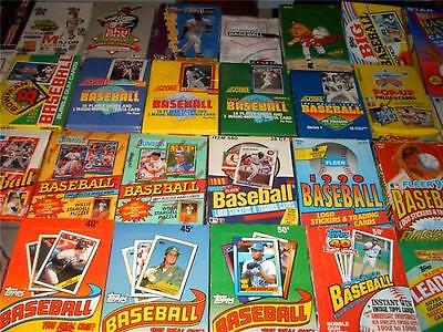 Huge Lots-Vintage Unopened Waxfoil Baseball Packs~Nolan Ryan Cal Ripken Jr Bonus