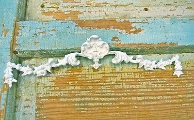 Shabby n Chic Floral Center FURNITURE APPLIQUES ONLAY WOOD RESIN