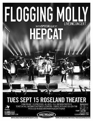Flogging Molly / Hepcat 2010 Concert Tour Poster