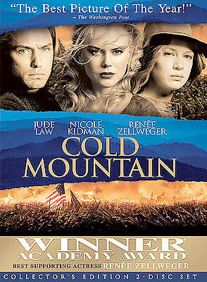 Cold Mountain DVD, 2004, 2-Disc Set, Drama Special Edition FREE SHIPPING U.S.A.