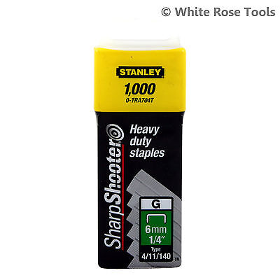 New 1000pc Stanley SharpShooter Heavy Duty Staples 6-14mm Type 4/11/140