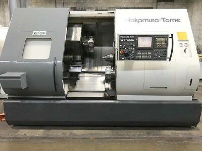 2005 Nakamura Tome WT-300MMSY 8-Axis CNC Turning Center Live tooling and Y-Axis