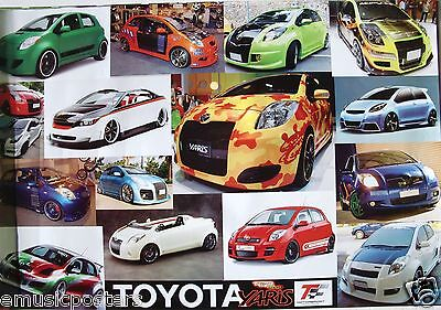 "Automobiles ""toyota Yaris Sports Cars"" 16 Models Poster"