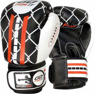 BooM KIDS Boxing Gloves Junior Punching Bag Leather MMA Training Mitts Muay Thai