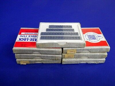 Base-Lock Rubber Type The Original 13 Front Lot Of 19 Nib
