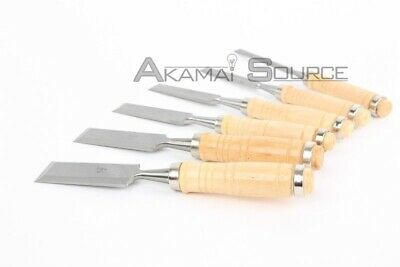 6 Pc Professional Wood Carving Hand Chisel Tool Set Woodcarving Hobby Tools BIN