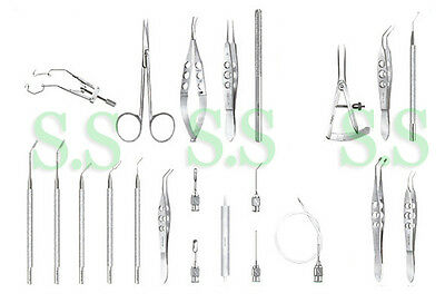Cataract Set Of 22 Pieces Opthalmic Eye Instruments