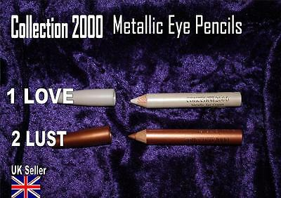 Collection 2000 EYE PENCIL shadow liner METALLIC white bronze 1 LOVE 3 LUST A45
