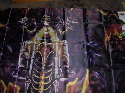 "FLAG   "" HELL RIDER ""   150cm x 90cm New Sealed"
