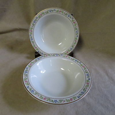 Vintage Syracuse China Melrose Pattern Rimmed Soup/Cereal Bowls In Ex. Cond.