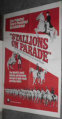 LIPPIZANERS STALLIONS ON PARADE original1964 one sheet movie poster Documentary