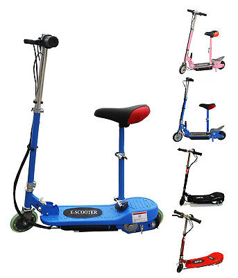 Kids Electric E Scooter 120W 140W & Led Ride On Toy Adjustable Removable Seat