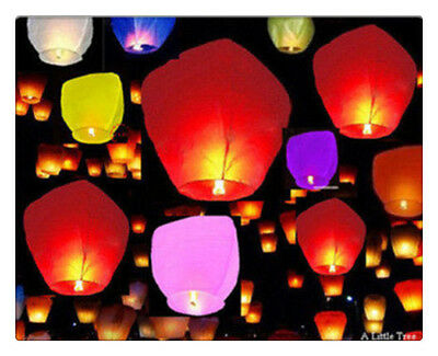 Chinese Flying Sky Lanterns Birthday Wedding Party Celebrations Anniversary wish