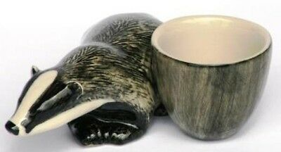 Badger Ceramic Egg Cup by Quail pottery  NEW Gift Boxed