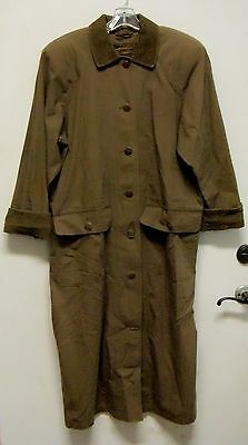 Vintage Eddie Bauer Full Length Brown Trench Coat Size L