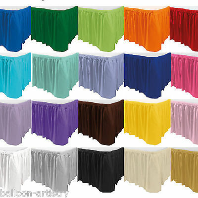 14ft Solid Colour Plastic Table Skirt Wedding Tableware Party Supplies Colours