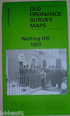 Old Ordnance Survey Detailed Map Notting Hill London  1893 Sheet 59