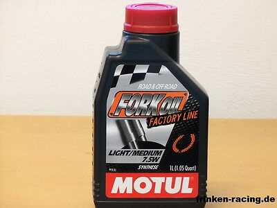 16,75€/l Motul Fork Oil Factory Line Light / Medium SAE 7,5W 2 x 1L  Gabelöl