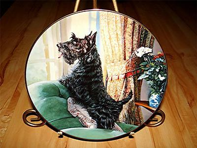 """""""Waiting For You"""" SCOTTISH TERRIERS DOG Mandie Haywood The Danbury Mint Plate"""