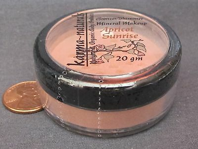 APRICOT SUNRISE - Peach Gold Natural BRONZER SHIMMER Mineral Makeup Powder -20gm