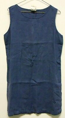 Vintage Tom Tom Womens Slate Blue Linen Long Tank Top Size M