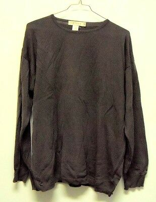 Vintage Tweeds Brown Crew Neck Merino Wool Sweater Womens XL