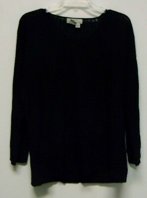 Vintage Eddie Bauer AKA Black Sweater Womens Medium