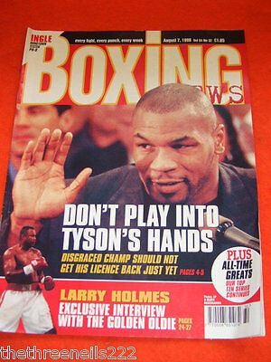 Boxing News - Larry Holmes - Aug 7 1998