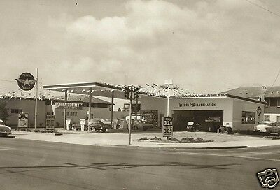 1 VINTAGE 8x11 #2 VEEDOL FLYING A GAS STATION  BUICK PONTIAC CHEVY OLDS b/w pic