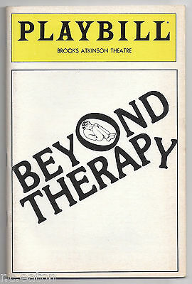Beyond Therapy - Broadway Playbill - John Lithgow, Dianne Wiest (1982)
