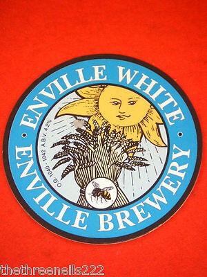 Beer Pump Clip - Enville Brewery White