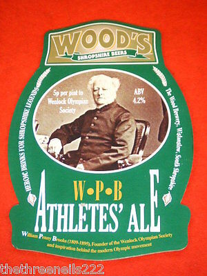 Beer Pump Clip - Wood's Wpb Athletes Ale