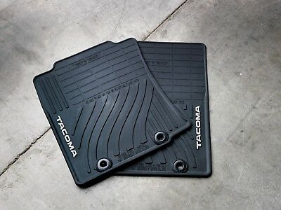 Toyota Tacoma 2012-2013 Double Cab Black All Weather Rubber Floor Mats - OEM NEW