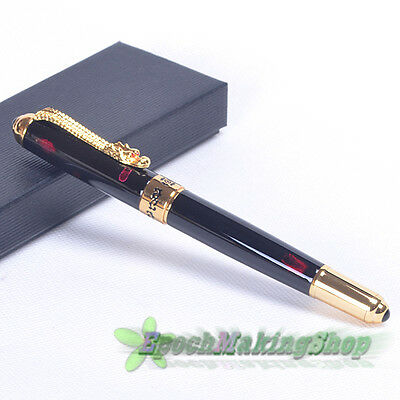 free shipping JINHAO 1000 dark red black dragon Medium nib fountain pen new