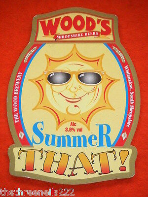 Beer Pump Clip - Wood's Summer That!