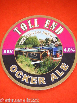 Beer Pump Clip - Toll End Ocker Ale - Canal Boats