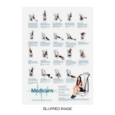 A1 Medicarn ® Power Vibration Plate Fitness Workout Training Exercise Poster