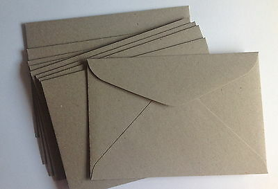 20 Envelopes 100%  Recycled  C6 Quality Weight Natural Pulp Envelope Grey /Brown