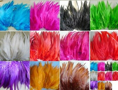 100pcs beautiful rooster feather 2-4 inches/5-10cm colour optional