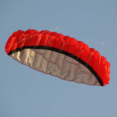 2.5M 2 line Red Parachute Outdoor Sport Kite LC627