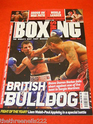 BOXING NEWS - DARREN BARKER v SERGIO MARTINEZ - OCT 6 2011