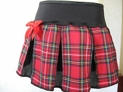 NEW  Baby Girls Black red white yellow tartan check Alternative clothing Gift
