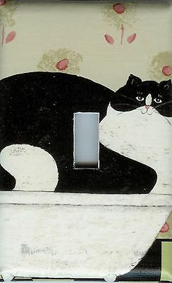 Light Switch Plate & Outlet Covers  BLACK FAT CAT IN HOT TIN TUB